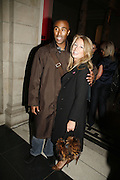 Colin Jackson and Karen Millen, Russian Fashion Forum launch party. Victoria & Albert Museum. April 21 2006 ONE TIME USE ONLY - DO NOT ARCHIVE  © Copyright Photograph by Dafydd Jones 66 Stockwell Park Rd. London SW9 0DA Tel 020 7733 0108 www.dafjones.com