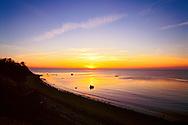 Golden Sunset, Birch Beach, New York, Cutchogue, Long Island, North Fork, Long Island Sound
