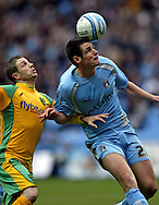Coventry - Saturday, March 8th, 2008: Scitt Dann of Coventry City and Jamie Cureton of Norwich City during the Coca Cola Championship match at the Ricoh Arena, Coventry. (Pic by Paul Hollands/Focus Images)