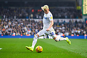Ezgjan Alioski of Leeds United (10) crosses the ball during the EFL Sky Bet Championship match between Leeds United and Bolton Wanderers at Elland Road, Leeds, England on 23 February 2019.