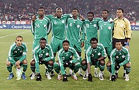 Fotball<br /> Foto: imago/Digitalsport<br /> NORWAY ONLY<br /> <br /> 20.11.2007<br /> Lagbilde Nigeria<br /> Mannschaftsbild Nigeria, hi.v.li.: Dickson Etuhu, Daniel Shittu, Yussuf Ayila, Onyekachi Okonkwo, Obinna Nwaneri, Torwart Austin Amamchukwu Ejide; vorn: Peter Odemwingie, Stephen Ayodele Makinwa, Ifeany Emeghara, Taye Taiwo, Uche Ikechukwu