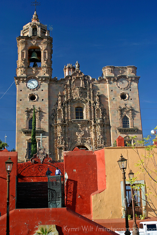 Americas, Mexico, La Valenica. The Temple of La Valencia, also known as San Cayetano, in the mining village near Guanajuato. A UNESCO World Heritage Site.