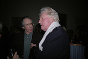 Ian McEwan and Paul Johnson. Everyman's Centenary Party. The Fine Rooms. Royal Academy. London. 15 February 2006. dddONE TIME USE ONLY - DO NOT ARCHIVE  © Copyright Photograph by Dafydd Jones 66 Stockwell Park Rd. London SW9 0DA Tel 020 7733 0108 www.dafjones.com