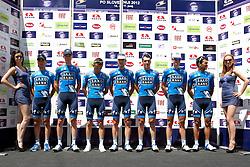 Team Saxo Bank during 1st Stage (164 km) at 19th Tour de Slovenie 2012, on June 14, 2012, in Celje, Slovenia. (Photo by Urban Urbanc / Sportida)