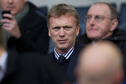 BOLTON, ENGLAND - Sunday, October 31, 2010: Everton's manager David Moyes before the Premiership match between Liverpool and Bolton Wanderers at the Reebok Stadium. (Pic by: David Rawcliffe/Propaganda)