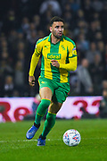 Hal Robson-Kanu of West Bromwich Albion (4) in action during the EFL Sky Bet Championship match between Leeds United and West Bromwich Albion at Elland Road, Leeds, England on 1 March 2019.