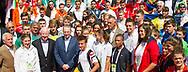 EYOF 2013: Pieter vd Hoogenband met aterleten bij afscheidsmoment Jaque Rogge