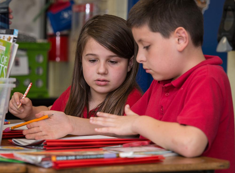 Lauren Aryes teaches at Durham Elementary School, April 28, 2015.