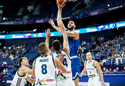 Georgios Papagiannis of Greece during basketball match between National Teams of Slovenia and Greece at Day 4 of the FIBA EuroBasket 2017 at Hartwall Arena in Helsinki, Finland on September 3, 2017. Photo by Vid Ponikvar / Sportida