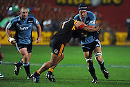 Anthony Boric in action during his 50th game for the Blues. Investec Super Rugby - Chiefs v Blues, Waikato Stadium, Hamilton, New Zealand. Saturday 26 March 2011. Photo: Andrew Cornaga / photosport.co.nz