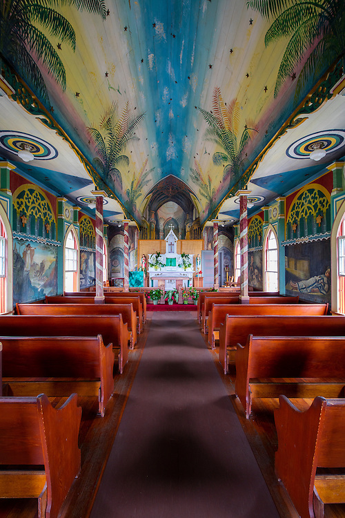 St Benedicts Painted Church, Honaunau,  Big Island of Hawaii