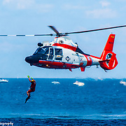 US Coast Guard Demonstrating Water Rescue Skills