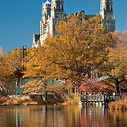 The Beresford and the Delacorte Shakespeare Theater overlooking Turtle Pond in Central Park, November 2010