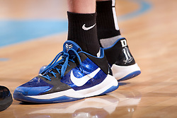 CHAPEL HILL, NC - MARCH 05: A detail view of the Nike Zoom Kobe V Basketball shoe as worn by Kyle Singler #12 of the Duke Blue Devils while playing the North Carolina Tar Heels on March 05, 2011 at the Dean E. Smith Center in Chapel Hill, North Carolina. North Carolina won 67-81. (Photo by Peyton Williams/UNC/Getty Images) *** Local Caption *** Kyle Singler