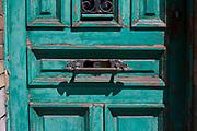 Faded green door, Brussels, Belgium