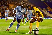 AFC Wimbledon forward Michael Folivi (17), on loan from Watford, AFC Wimbledon forward Michael Folivi (17), on loan from Watford,  during the EFL Sky Bet League 1 match between Coventry City and AFC Wimbledon at the Trillion Trophy Stadium, Birmingham, England on 17 September 2019.