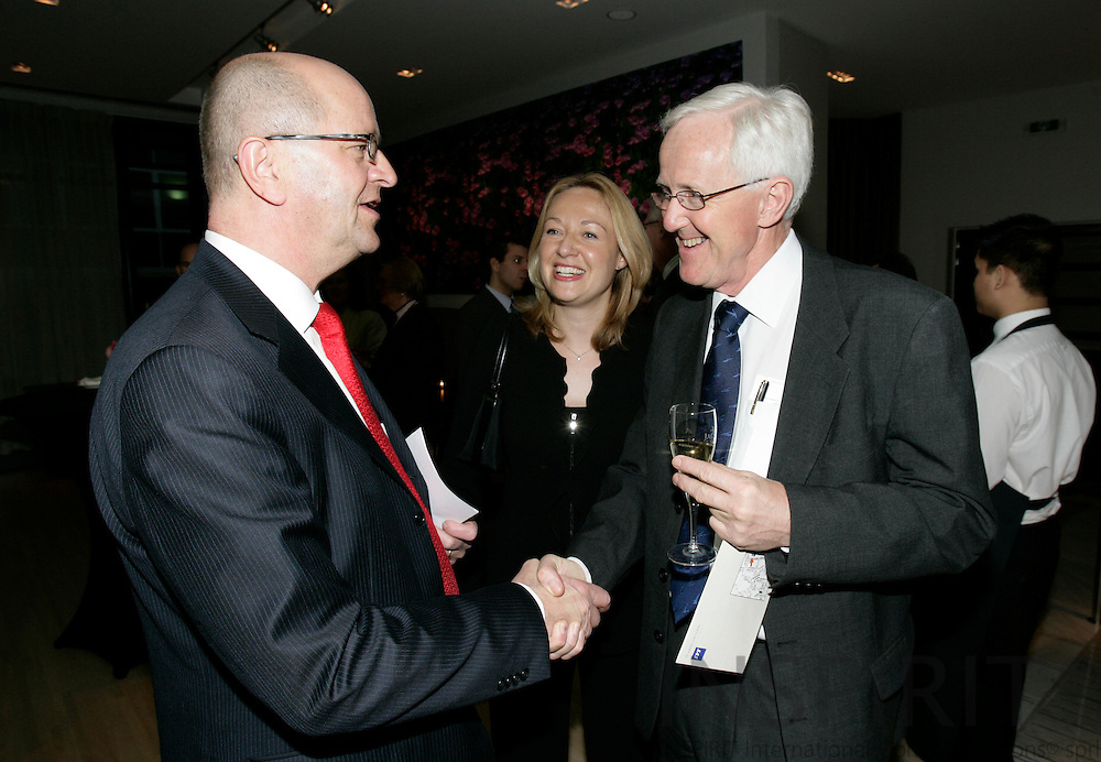 BRUSSELS - BELGIUM - 21 MARCH 2007 -- From left Mats JANSSON, CEO of the SAS Group, Charlotte ANDSAGER, Vice-President SAS Group and Ambassador to the EU Sven-Oluf PETRSSON.   PHOTO: ERIK LUNTANG