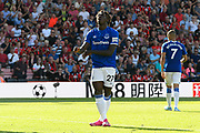 Moise Kean (27) of Everton reacts after Aaron Ramsdale (12) of AFC Bournemouth saved as shot at goal during the Premier League match between Bournemouth and Everton at the Vitality Stadium, Bournemouth, England on 15 September 2019.
