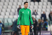 Juventus Goalkeeper Wojciech Szczesny in warm up during the Champions League Group H match between Juventus FC and Manchester United at the Allianz Stadium, Turin, Italy on 7 November 2018.