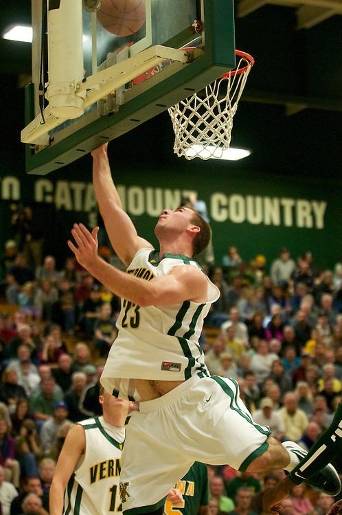 The men's baskeball game between the Sienna Saints and the Vermont Catamounts at Patrick Gymnasium on Saturday afternoon November 26, 2011 in Burlington, Vermont.