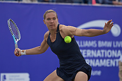 LIVERPOOL, ENGLAND - Sunday, June 23, 2019: Kaia Kanepi (EST) during the Ladies' Final on during Day Four of the Liverpool International Tennis Tournament 2019 at the Liverpool Cricket Club. (Pic by David Rawcliffe/Propaganda)