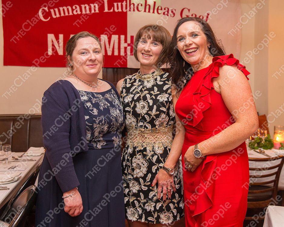 Roisin Bonfil, Eunice Mullaney and Janet Haugh, all from Kilbaha attending the Naomh Eoin social at Stella Maris Hotel in Kilkee