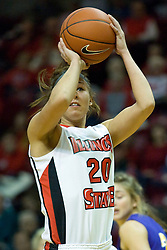 01 January 2011: Katie Broadway during an NCAA Women's basketball game between the Northern Iowa Panthers and the Illinois State Redbirds at Redbird Arena in Normal Illinois.