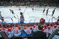 KELOWNA, CANADA - NOVEMBER 9: Team Russia on November 9, 2015 during game 1 of the Canada Russia Super Series at Prospera Place in Kelowna, British Columbia, Canada.  (Photo by Marissa Baecker/Western Hockey League)  *** Local Caption ***