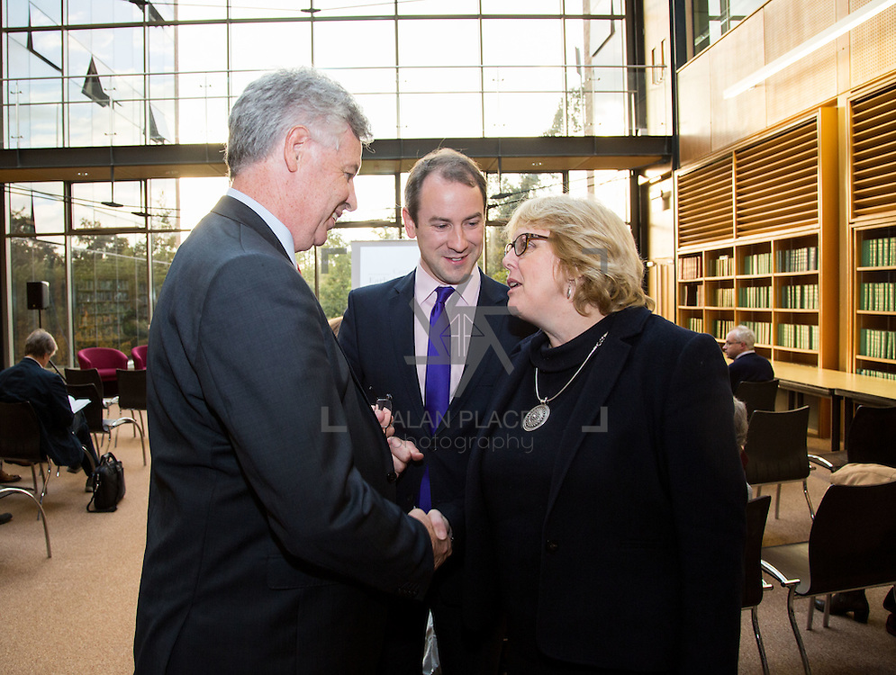 14.10.2016                 <br /> A new research centre focussing on Irish and European history and culture was launched in Limerick.<br /> <br /> Pictured at the launch were, Dr. Philip O'Regan, dean Kemmy Business School, David Fleming, Dept. of History UL and Prof. Jane Ohlmeyer, Erasmus Smith&rsquo;s Chair of Modern History, Trinity College Dublin, Director of the Trinity Long Room Hub, and Chair of the Irish Research Council.<br /> <br /> The Centre for Early Modern Studies brings together experts from University of Limerick and Mary Immaculate College to further the study of the history and culture of the 16th, 17th and 18th centuries. <br /> <br /> The Centre for Early Modern Studies was launched  with an inaugural lecture by Professor Jane Ohlmeyer, Erasmus Smith&rsquo;s Chair of Modern History, Trinity College Dublin, Director of the Trinity Long Room Hub, and Chair of the Irish Research Council. Professor Ohlmeyer spoke on the topic of &lsquo;Early Modern Ireland and the Wider World&rsquo;.<br /> Picture: Alan Place