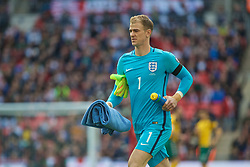 LONDON, ENGLAND - Sunday, March 26, 2017: England's goalkeeper Joe Hart before the 2018 FIFA World Cup Qualifying Group F match against Lithuania at Wembley Stadium. (Pic by Lexie Lin/Propaganda)