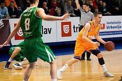 Jure Pelko of KK Helios Suns during basketball match between KK Helios Suns and KK Petrol Olimpija in Playoffs of Liga Nova KBM 2017/18, on March 26, 2018 in Hala Kominalnega Centra, Domzale, Slovenia. Photo by Urban Urbanc / Sportida
