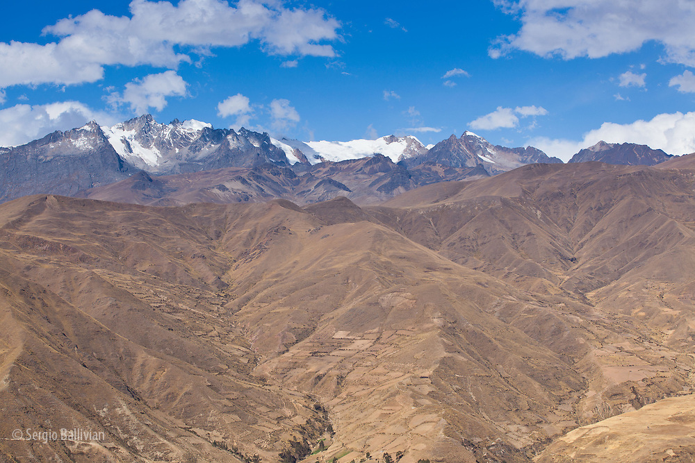 The rugged granite peaks of the Cordillera Quimsa Cruz, Bolivia.