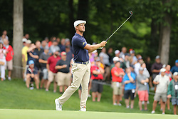 May 30, 2019 - Dublin, OH, U.S. - DUBLIN, OH - MAY 30: Bryson DeChambeau hits an approach shot on the ninth hole during the first round of The Memorial Tournament on May 30th 2019  at Muirfield Village Golf Club in Dublin, OH. (Photo by Ian Johnson/Icon Sportswire) (Credit Image: © Ian Johnson/Icon SMI via ZUMA Press)