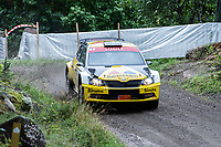 2019-09-07 | Linköping, Sweden: Martin Berglund / Joakim Gevert during East Rally Sweden / Rally SM in Linköping ( Photo by: Simon Holmgren | Swe Press Photo )<br /> <br /> Keywords: Linköping, Linköping, Rally, East Rally Sweden / Rally SM, ,