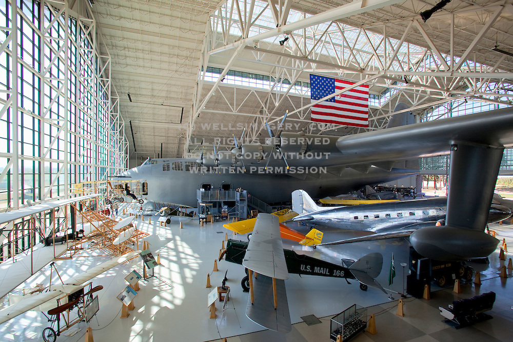 "Image of the Hughes H-4 Hercules ""Spruce Goose"" at the Evergreen Aviation & Space Museum in McMinnville, Oregon, Pacific Northwest"