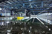 Nederland, Wageningen, 20-1-2012Maritiem onderzoeksinstituut MARIN Maritime Research Institute Netherlands. Het seakeeping and manoeuvring basin van 170 m lengte en 40 m. breedte. Hier worden veelal in opdracht van werven ,scheepswerven, maar ook van vezekeringsmaatschappijen, schepen en scheepsmodellen onderzocht op hun eigenschappen in water en op zee.Foto: Flip Franssen