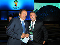 20110730: RIO DE JANEIRO, BRAZIL - UEFA Presiden Michel Platini Qualification draw for the 2014 World Cup held at the Marina da Gloria in Rio<br />