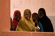 Girls leave classrooms at lunch time at the Mame Diarra Bousso koranic school in the village of Porokhane, Senegal, on Monday June 18, 2007.