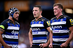 Sam Burgess of Bath Rugby looks on - Mandatory byline: Patrick Khachfe/JMP - 07966 386802 - 17/10/2015 - RUGBY UNION - The Recreation Ground - Bath, England - Bath Rugby v Exeter Chiefs - Aviva Premiership.