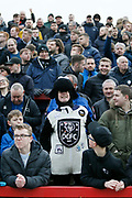 Derby fan dressed as a ram during the The FA Cup fourth round match between Accrington Stanley and Derby County at the Fraser Eagle Stadium, Accrington, England on 26 January 2019.