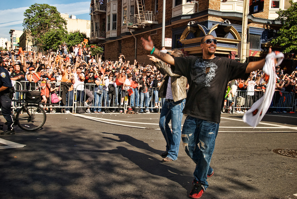 People crowd city streets to see Giants World Series Parade