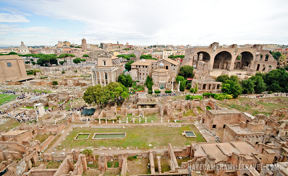 ROME, Italy - The historic ruins of the Foro Romano in Rome, Italy.