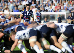 Bristol Rugby's Tristan Roberts watches the scrum - Photo mandatory by-line: Joe Meredith/JMP - Tel: Mobile: 07966 386802 06/10/2013 - SPORT - FOOTBALL - RUGBY UNION - Memorial Stadium - Bristol - Bristol Rugby V Bedford Blues - The Championship