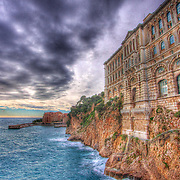 One of the single best places in Monaco to visit - the Oceanographic Museum of Monaco. Stunning both inside and out, it's dramatic perch right on the Mediterranean Sea is given extra emphasis in this HDR enhanced shot.