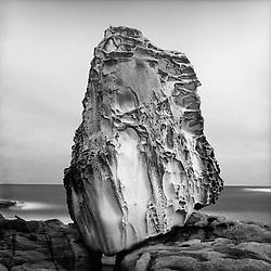 Bondi Rock,Sandstone,Photography of Bondi landscape by Paul Green,image Used as Ad for Kodak Tri-x film, Rolleicord camera