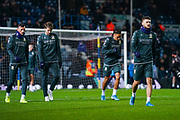 Leeds United midfielder Mateusz Klich (43) warming up during the EFL Sky Bet Championship match between Leeds United and Hull City at Elland Road, Leeds, England on 10 December 2019.