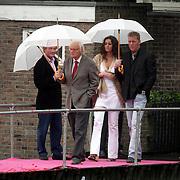 NLD/Amsterdam/20080907 - Gasten van het huwelijksfeest Nina Brink en Pieter Storms, Ferry Hoogendijk, Dave Heijnerman en vriendin Vanessa van der Meijden