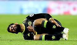 Diego Costa of Chelsea goes down injured - Mandatory by-line: Robbie Stephenson/JMP - 20/11/2016 - FOOTBALL - Riverside Stadium - Middlesbrough, England - Middlesbrough v Chelsea - Premier League