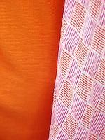 Coarsely woven saris, Agra.