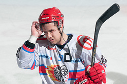 Mitja Robar (HK Acroni Jesenice, #51) during ice-hockey match between HDD Tilia Olimpija and HK Acroni Jesenice in second game of Final at Slovenian National League, on April 3, 2011 at Hala Tivoli, Ljubljana, Slovenia. (Photo By Matic Klansek Velej / Sportida.com)